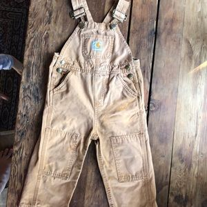 Carhartt toddler canvas overalls